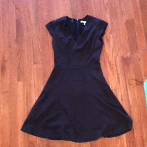 Black stretchy fit and flare Rebecca Taylor dress
